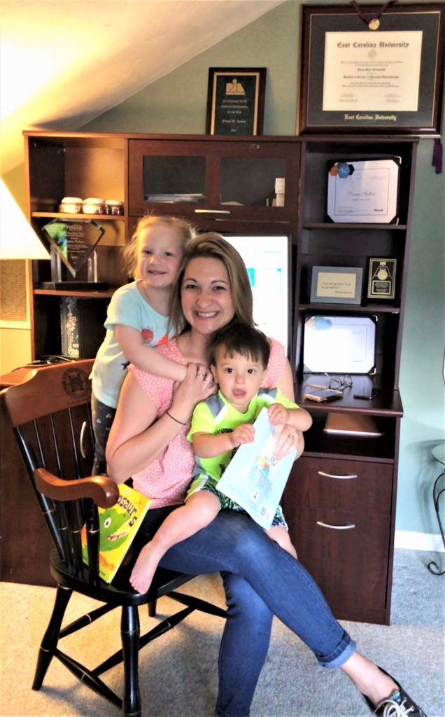 Diana Fulton with her kiddos